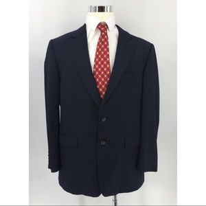 Burberry Pinstriped 2 Front Button Sports Coat